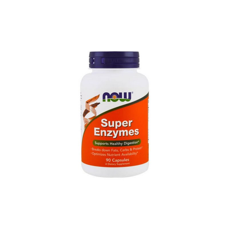 Super Enzymes 90 Caps - Now Foods