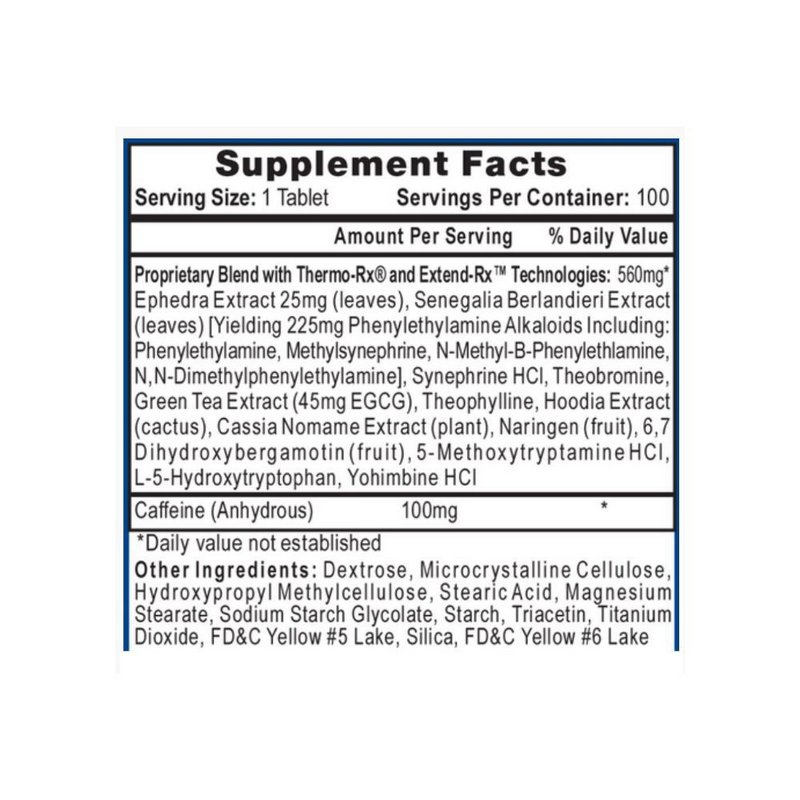 Termogênico Lipodrene Yellow Hi-Tech 100 Tabs - Hi-Tech Pharma