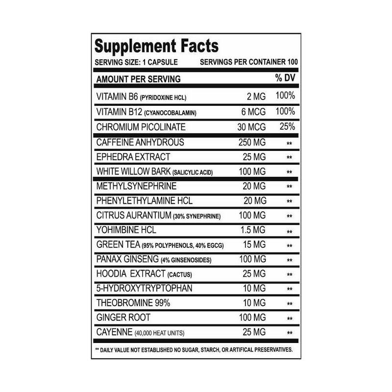 Termogênico Methyldrene Original Eca Stack 100 Caps - Cloma Pharma