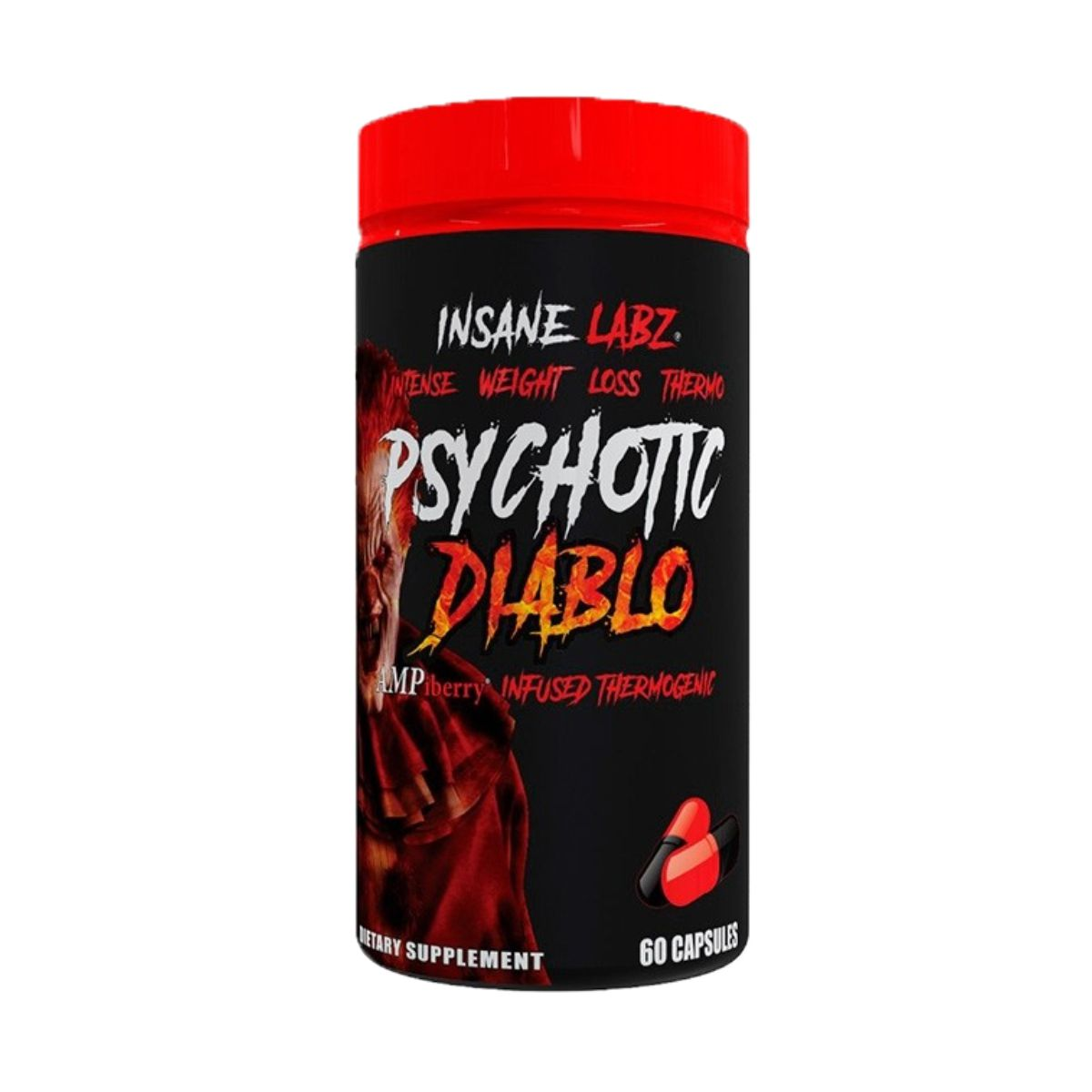 Termogênico Psychotic Diablo 60Caps - Insane Labz