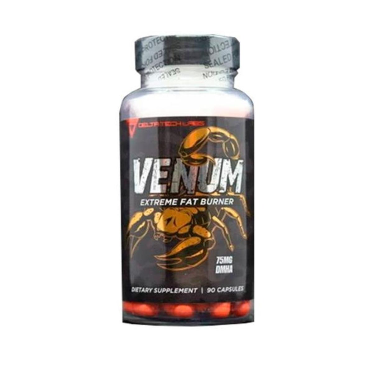 Termogênico Venum Extreme fat Burner 75mg DMHA 90Caps - Delta Tech Labs