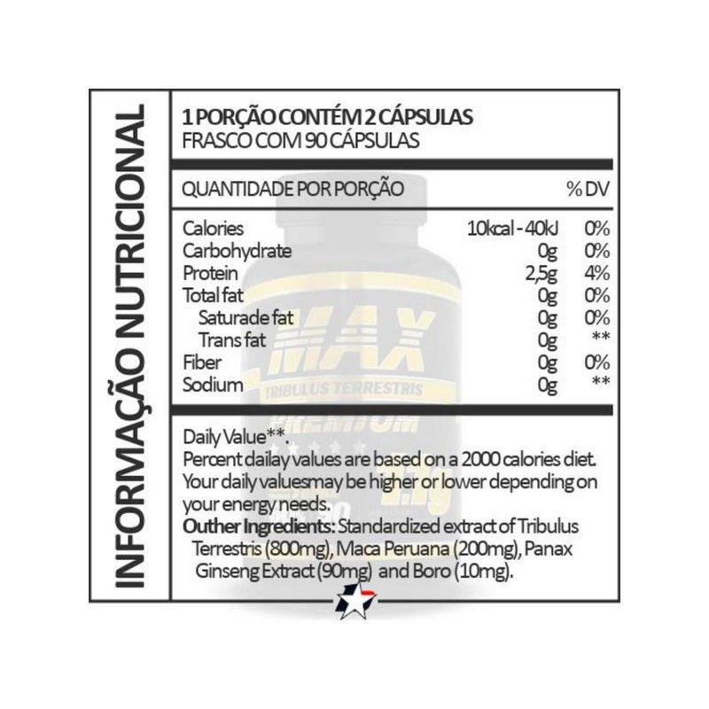 Tribulus  Max Premium 90 Caps 1.1g  - Super Nutrition