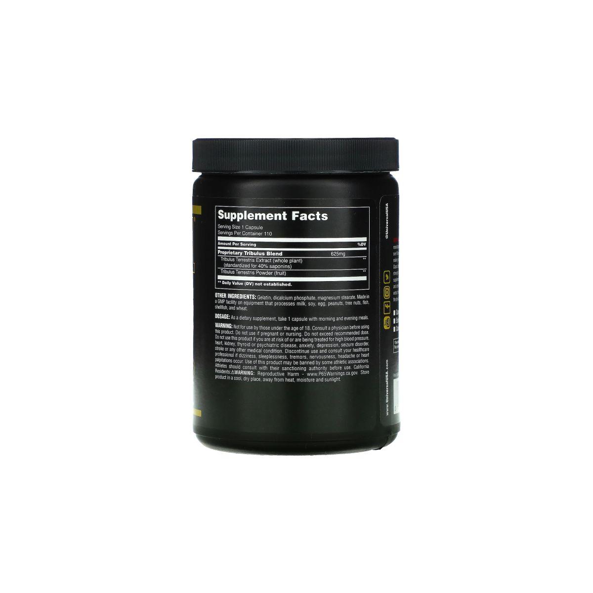 Tribulus Pro 625mg 110 Caps - Universal Nutrition