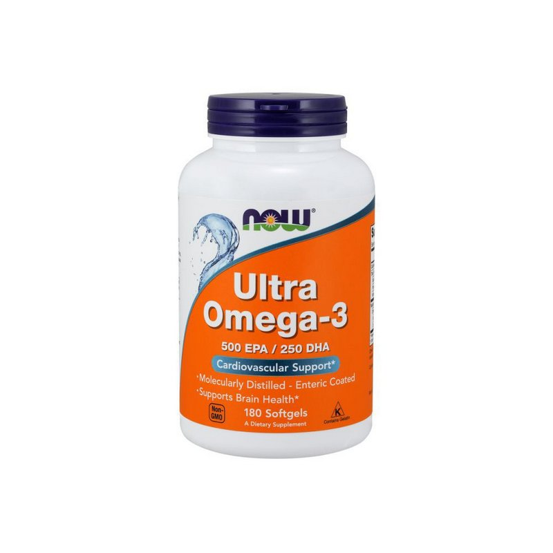 Ultra Omega 500EPA/250DHA 180 Caps -  Now Foods