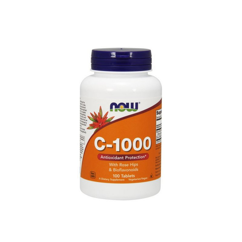 Vitamina C 1000mg 100tabs - Now Foods