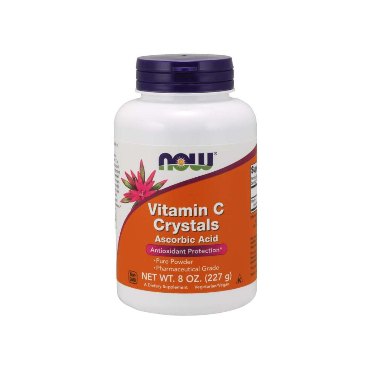 Vitamina C Powder Crystals Ascorbic Acid 227g 45mg - Now Foods