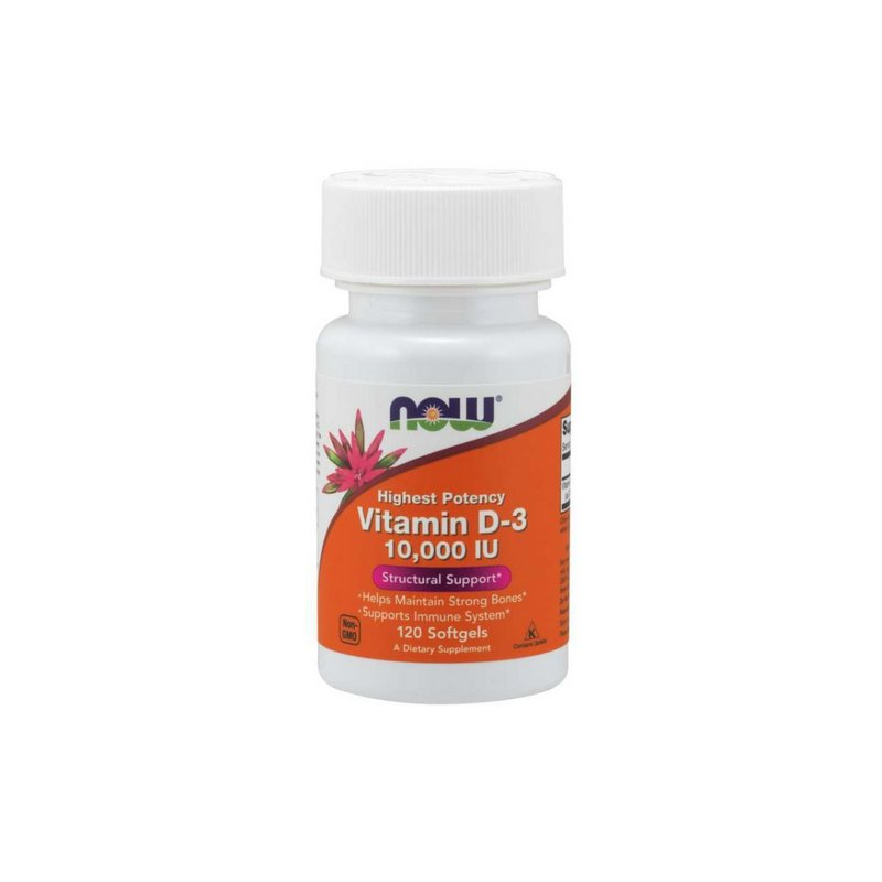 Vitamina D3 10.000ui 120 Softgels - Now Foods