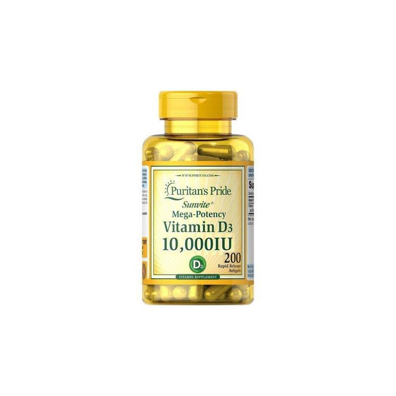 Vitamina D3 10.000ui 200Caps - Puritans Pride