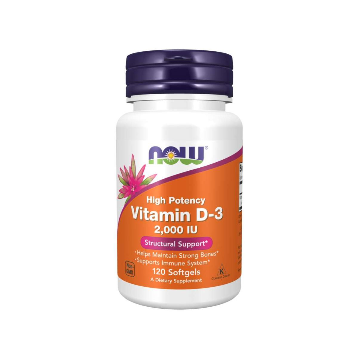 Vitamina D3 2.000ui 120 Softgels -  Now Foods