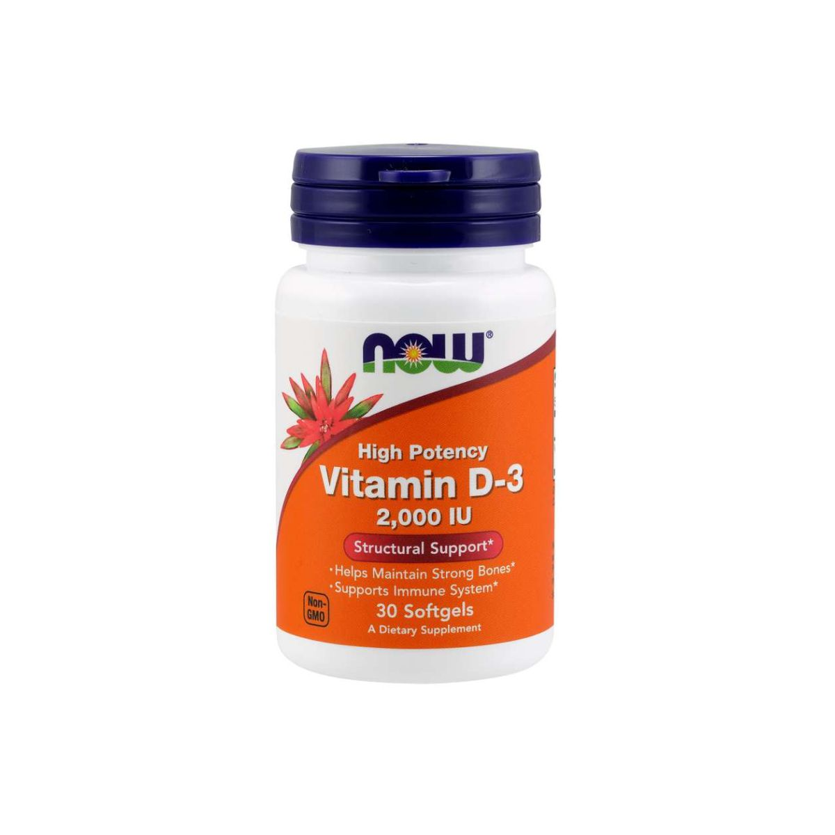 Vitamina D3 2.000ui 30 Softgels -  Now Foods