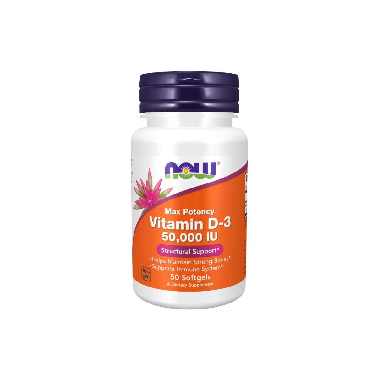 Vitamina D3 50.000UI 50 Caps - Now Foods