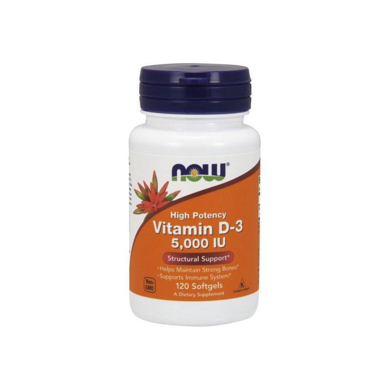 Vitamina D3  5.000ui 120 Softgels - Now Foods