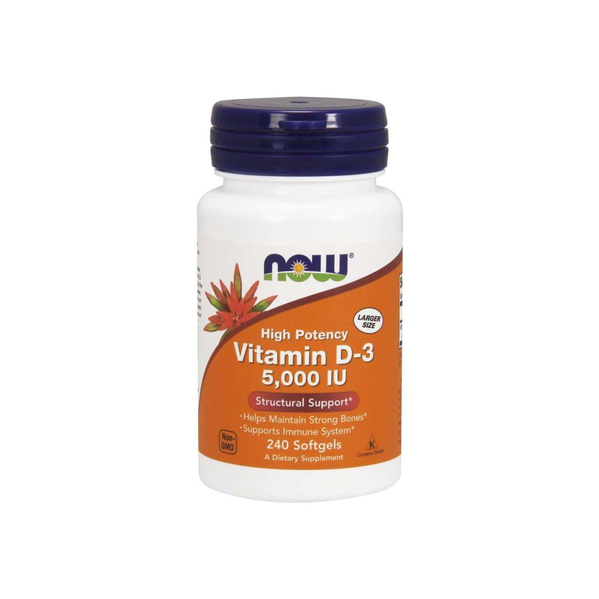 Vitamina D3 5.000ui 240 Softgels - Now Foods