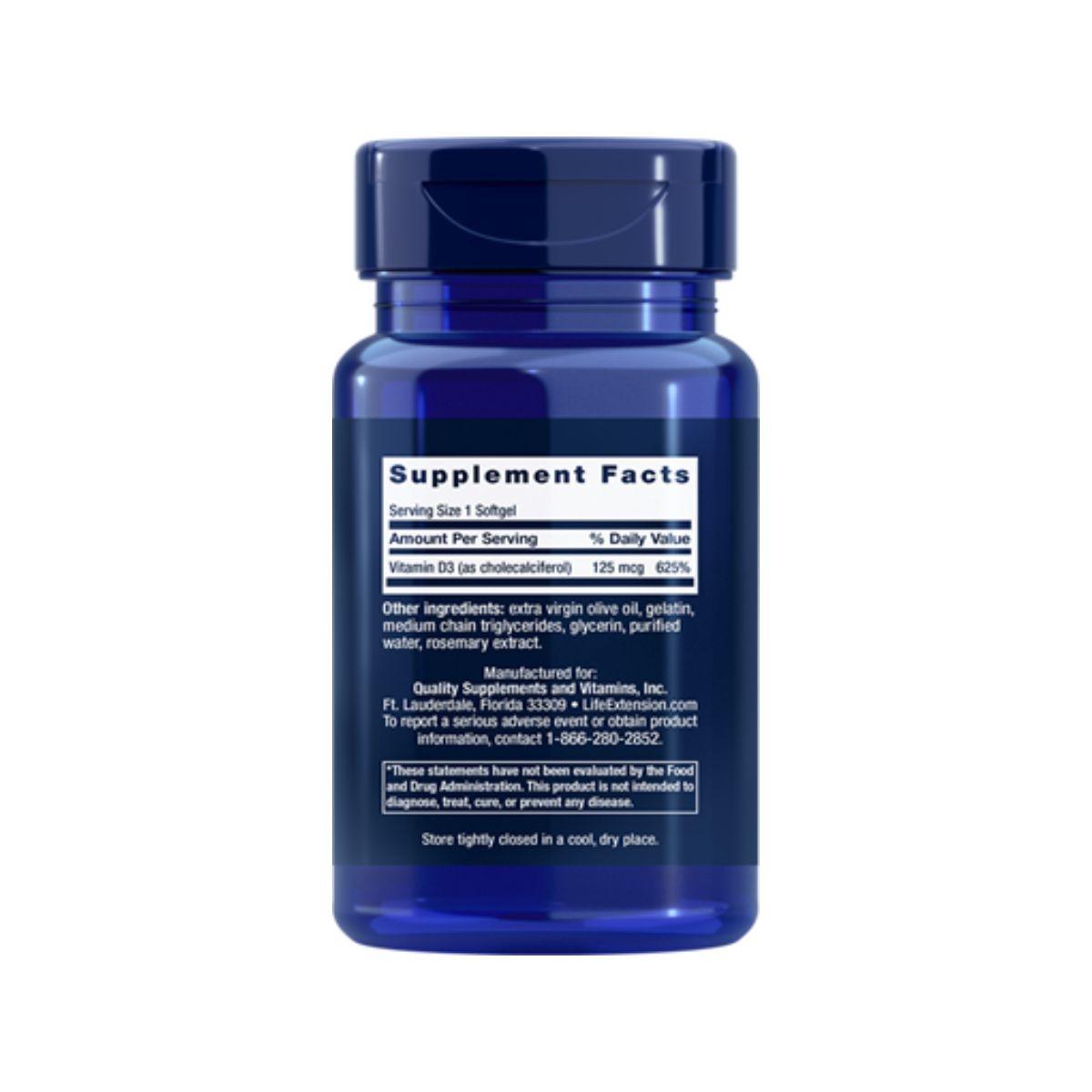 Vitamina D3  5.000ui 60 Softgel - Life Extension