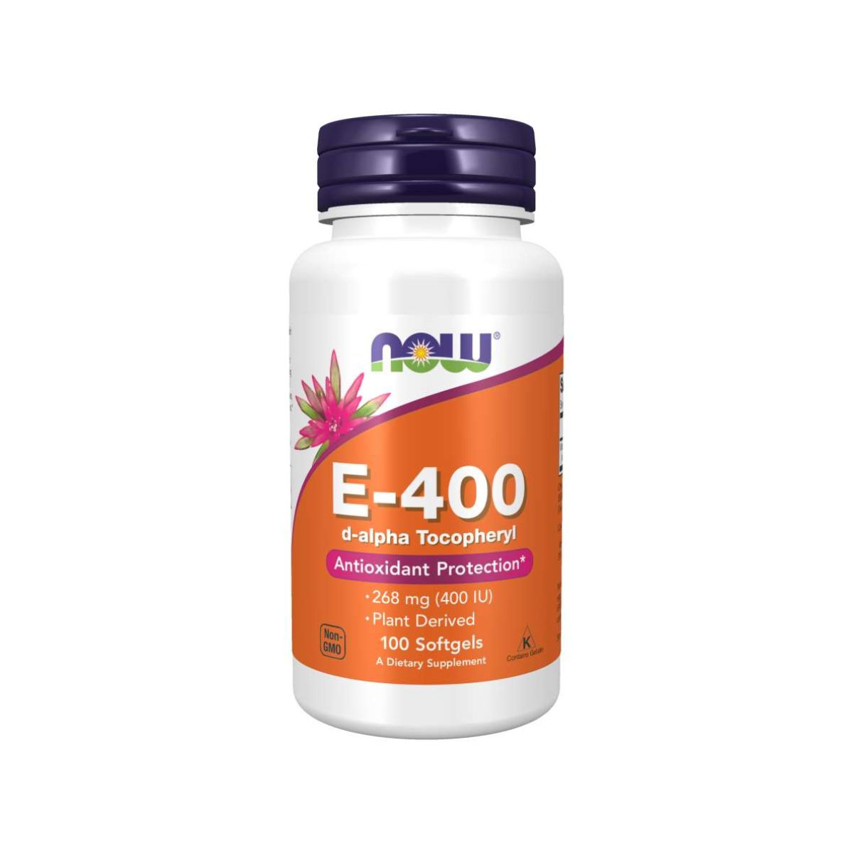Vitamina E-400 d-alpha Tocopheryl 100 Caps - Now Foods