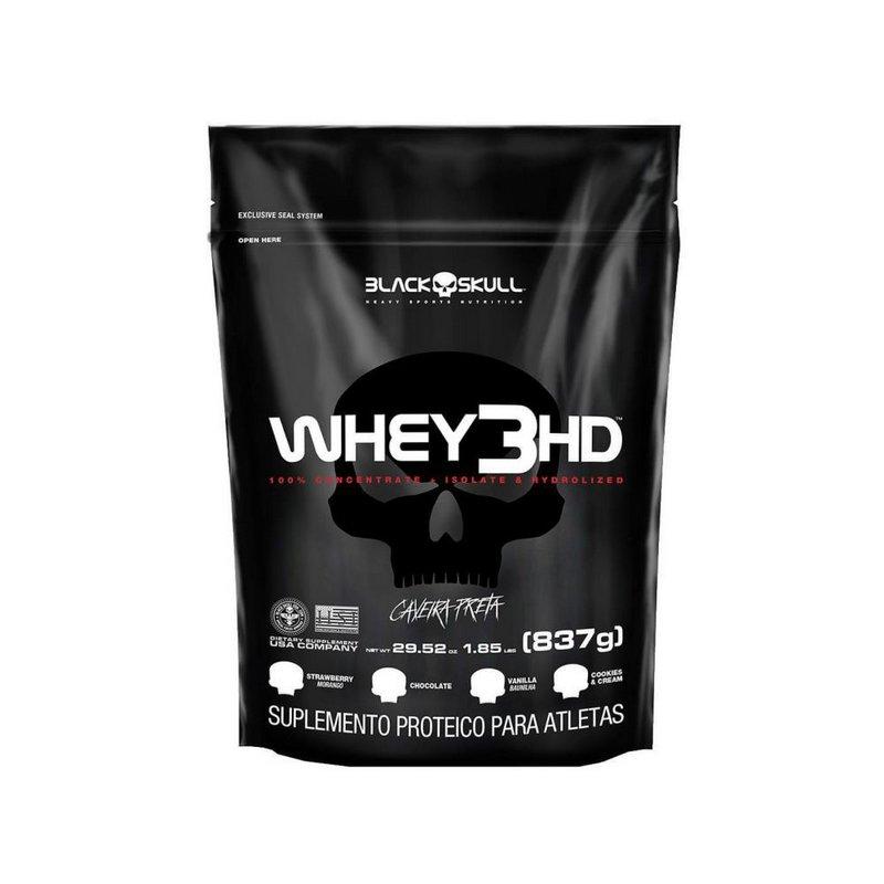 Whey Refil 3HD 837g - Black Skull