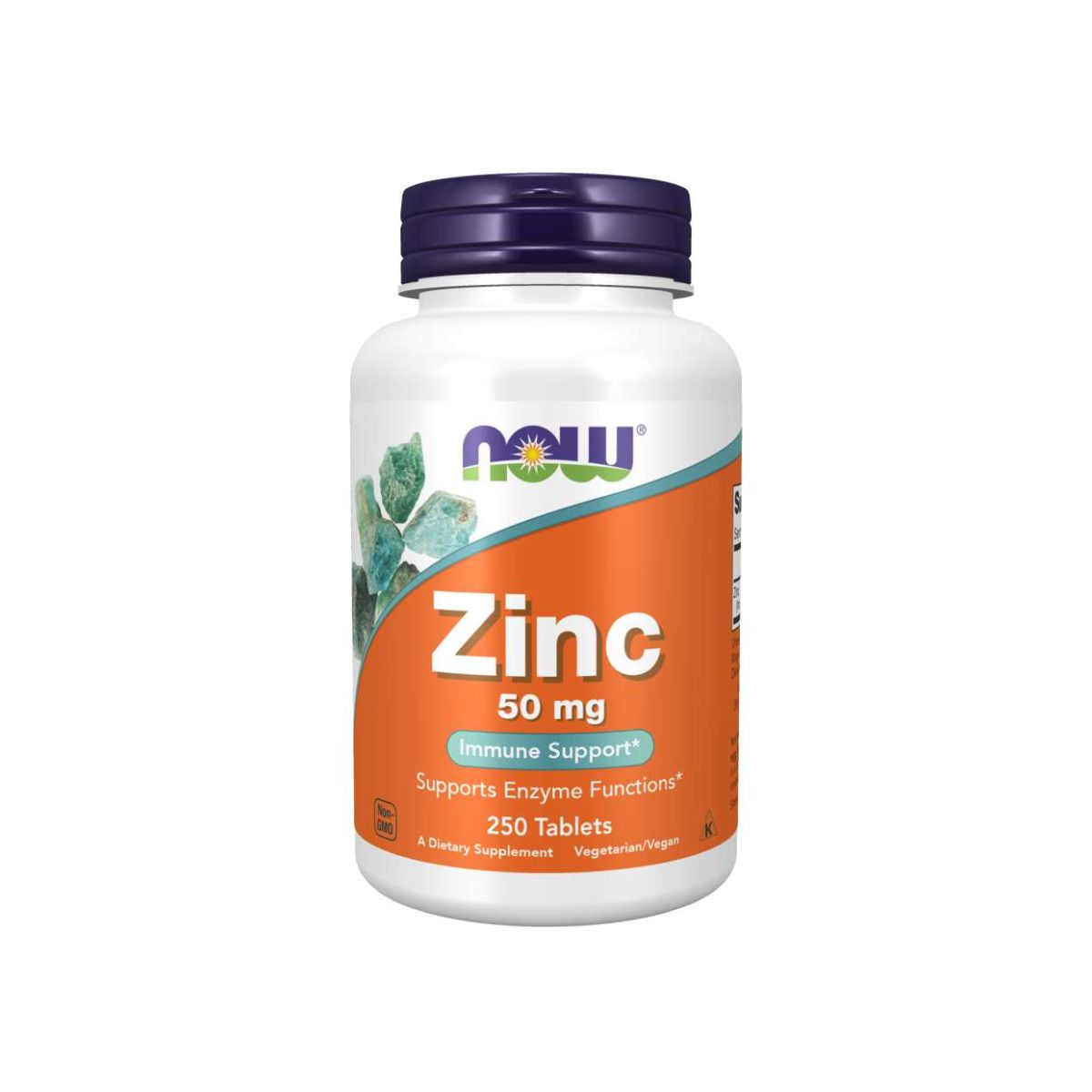 Zinc 50mg Immune Support 250Caps - Now Foods