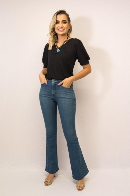 Calça Jeans Tradicional 22575 Exss Denim Skinny Fiturban Flare
