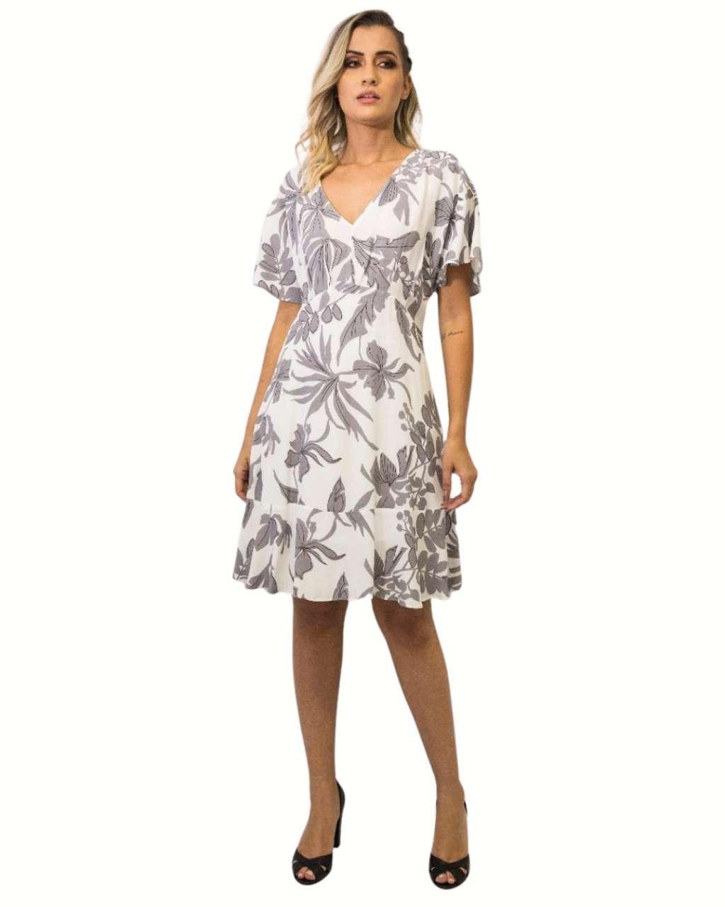 Vestido Fê Palazzo 22462 Delicadeza Curto