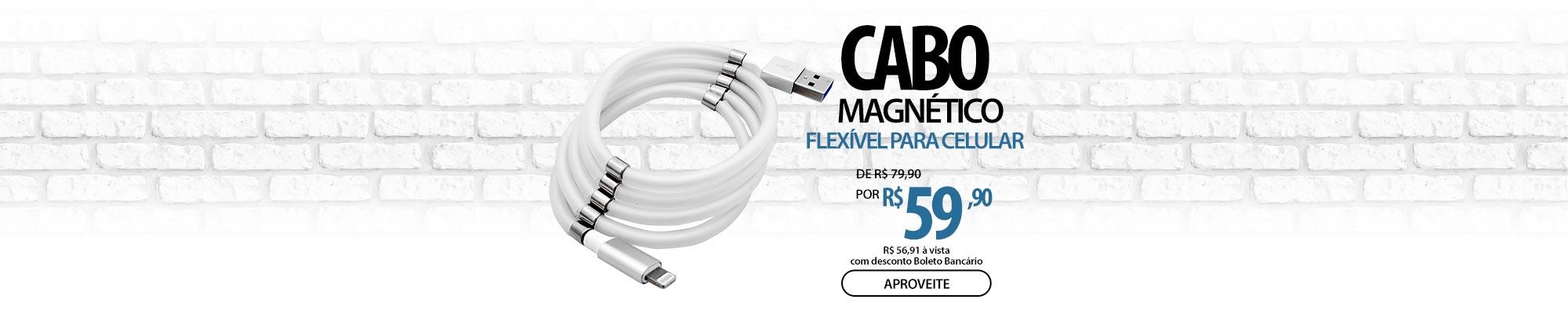 Cabo Magnético Flexível para Celular