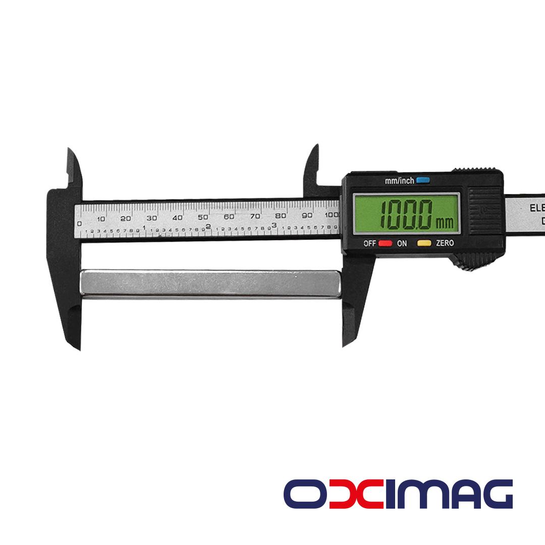 Ímã de Neodímio Bloco - 100 X 10 X 10  mm - N50