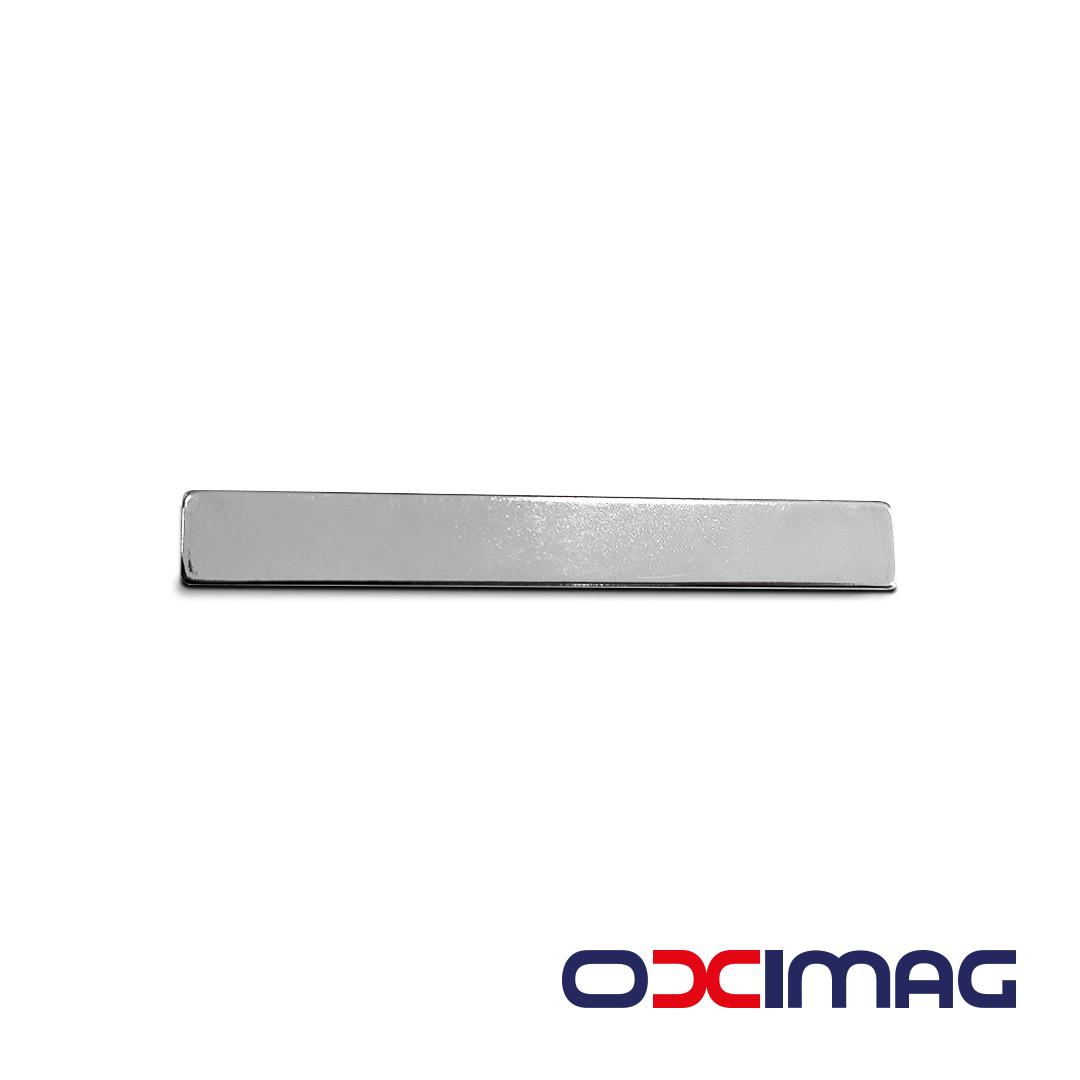 Ímã de Neodímio Bloco - 100 X 13 X 4 mm - N35