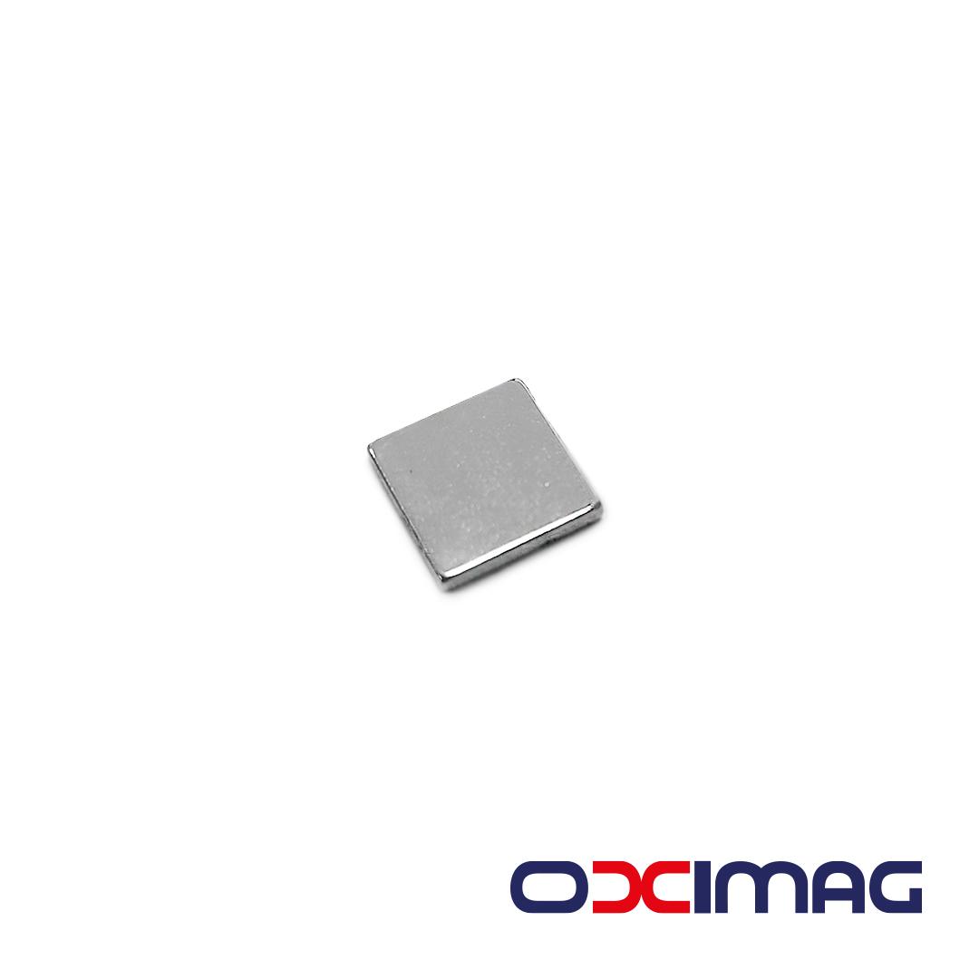 Ímã de Neodímio Bloco - 12 X 12 X 2 mm - N35
