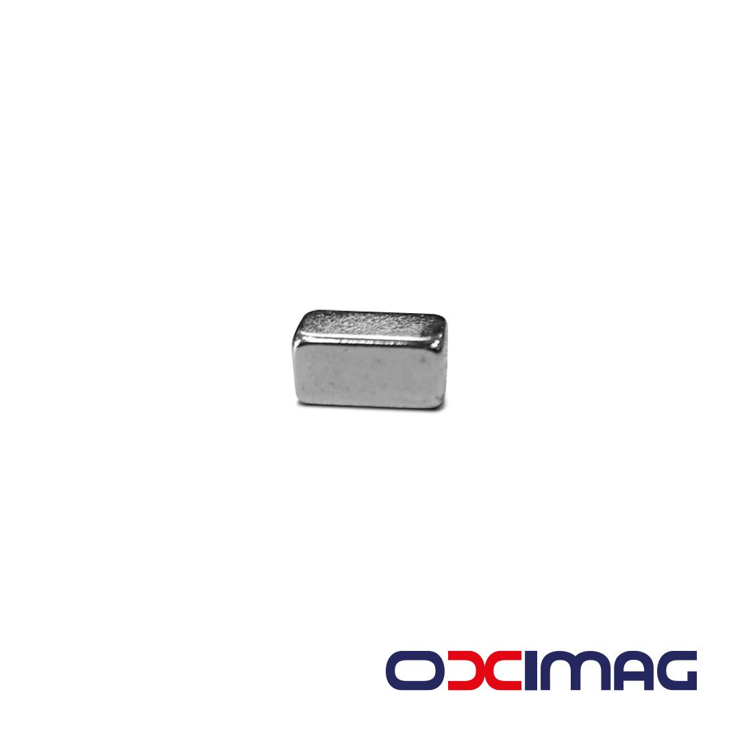Ímã de Neodímio Bloco - 12 X 6 X 5 mm - N52