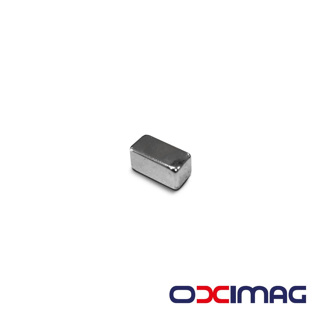 Ímã de Neodímio Bloco - 12 X 6 X 6 mm - N52