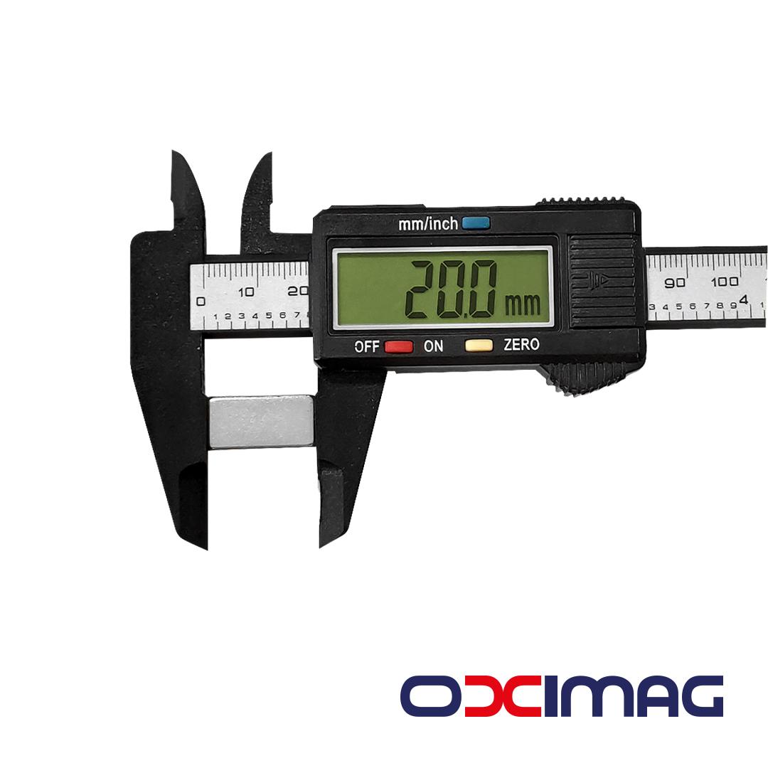 Ímã de Neodímio Bloco - 20 X 10 X 5  mm - N50