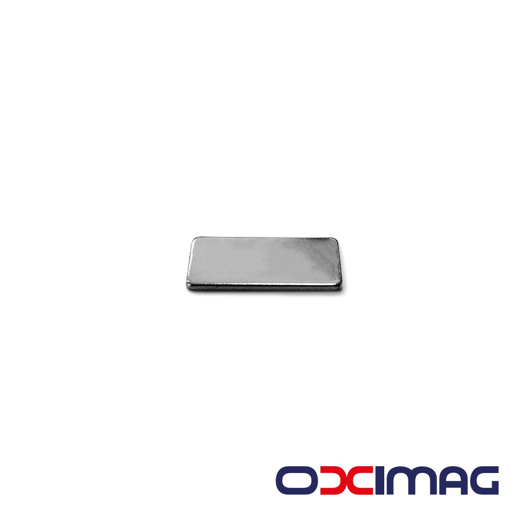 Ímã de Neodímio Bloco - 23 X 10 X 1,5 mm - N35