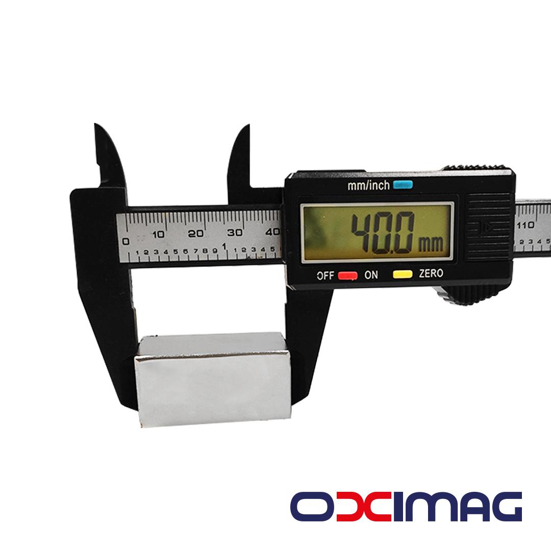 Ímã de Neodímio Bloco - 40 X 20 X 20 mm - N50