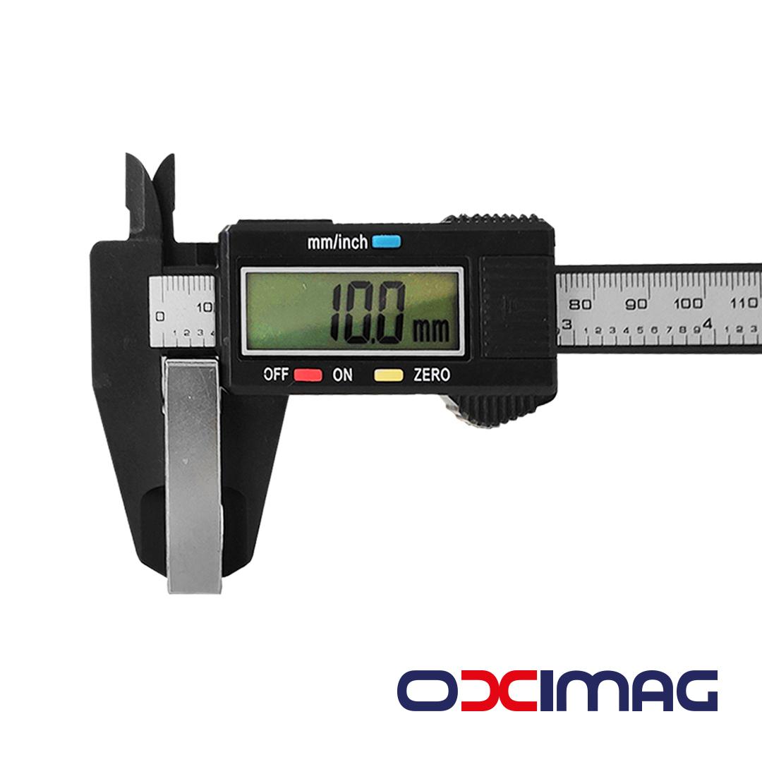 Ímã de Neodímio Bloco - 40 X 40 X 10  mm - N50 - COM  IPI