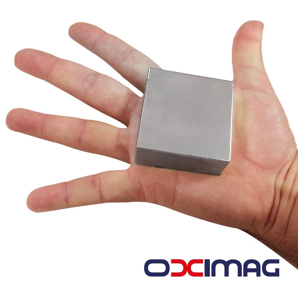 Ímã de Neodímio Bloco - 50,8 X 50,8 X 25,4  mm - N50