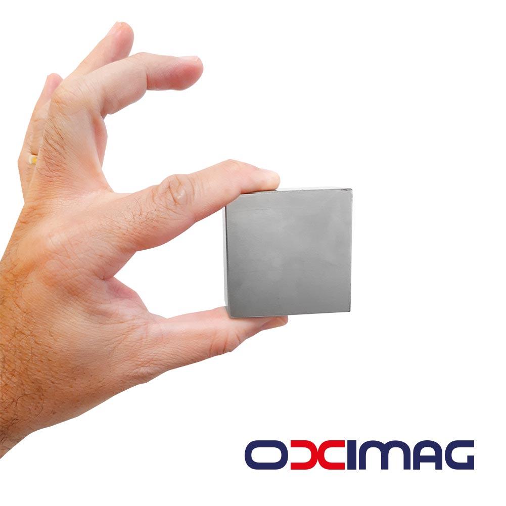 Ímã de Neodímio - Bloco - 50,8 X 50,8 X 25,4mm - N35