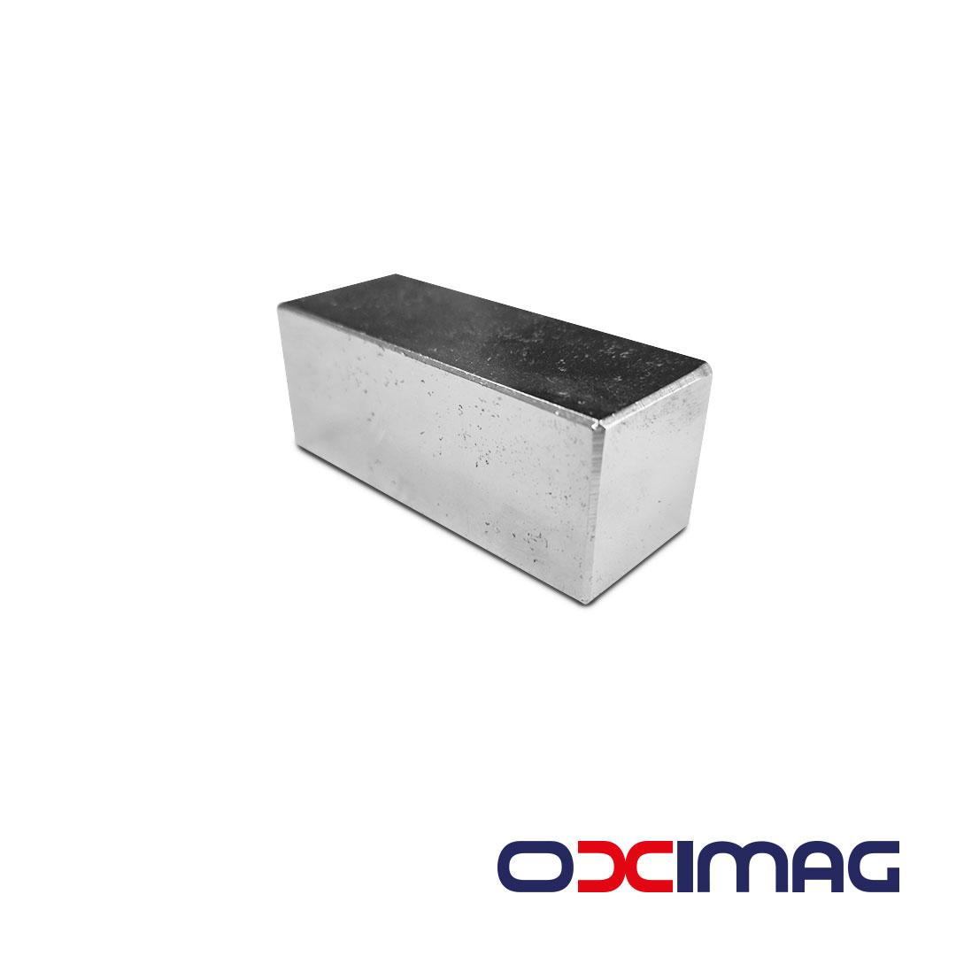 Ímã de Neodímio Bloco - 50 X 20 X 20 mm - N35