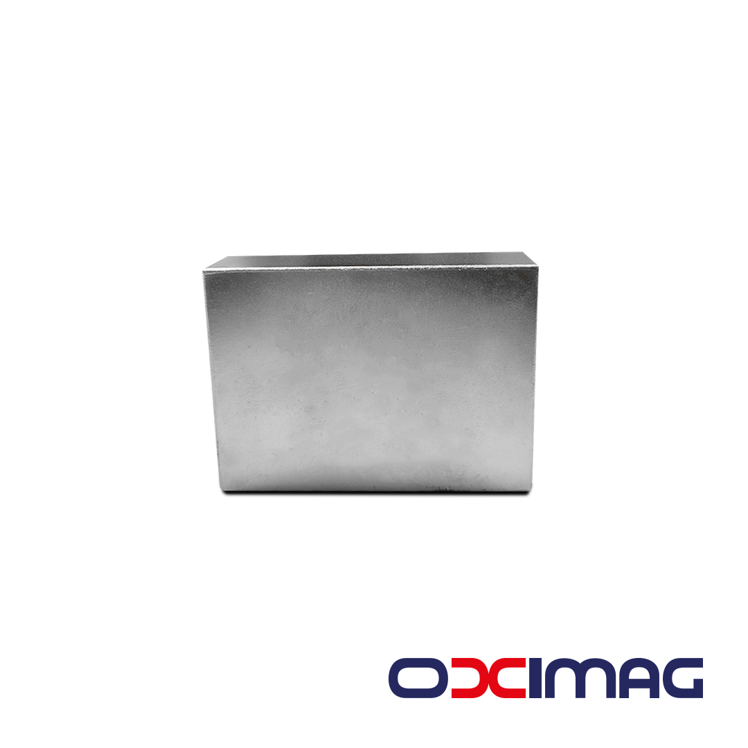 Ímã de Neodímio Bloco - 55 X 40 X 16  N45 - COM BANHO DE NIQUEL