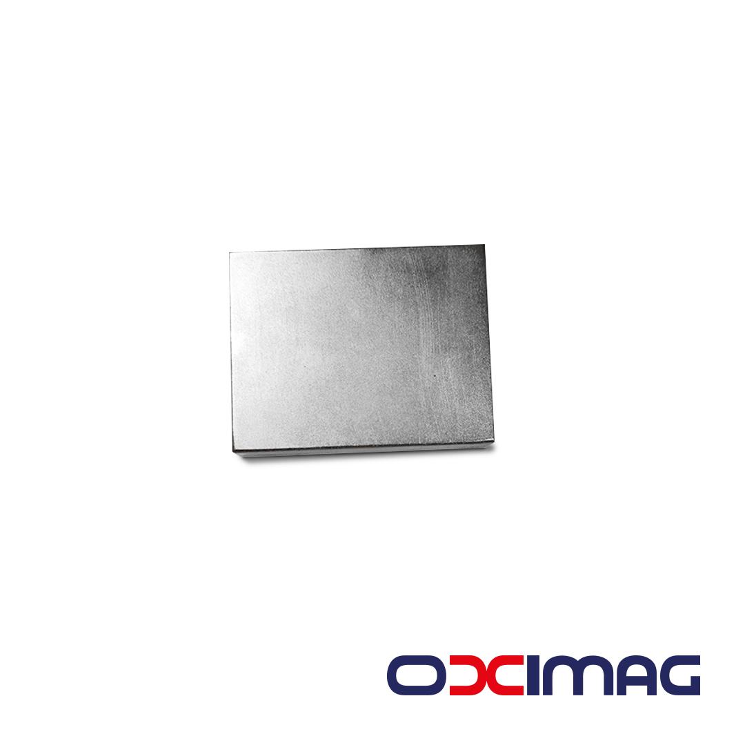 Ímã de Neodímio Bloco - 55 X 43 X 10  N45 - COM BANHO NIQUEL
