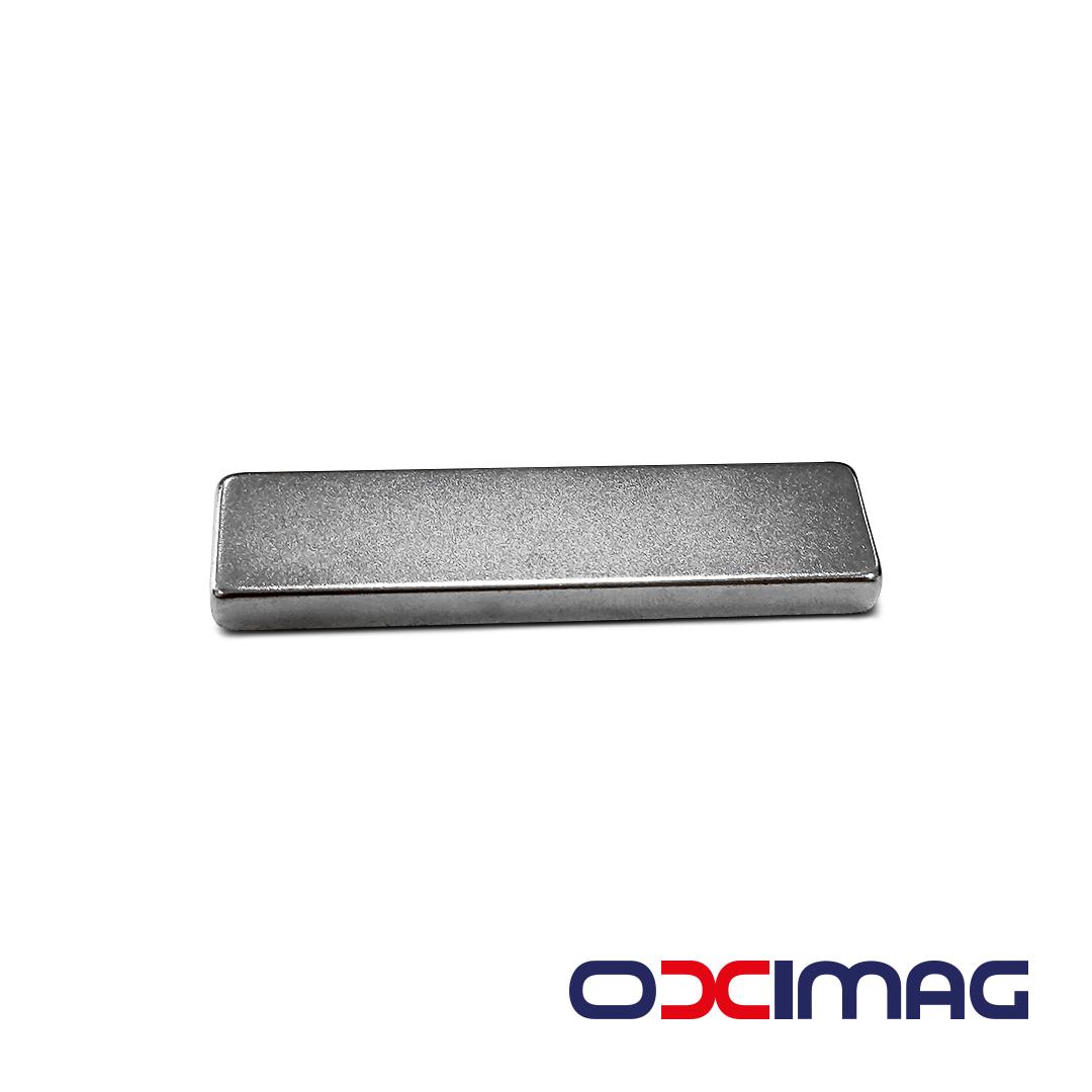 Ímã de Neodímio Bloco - 59,5 X 5,5 X 15 mm - N35