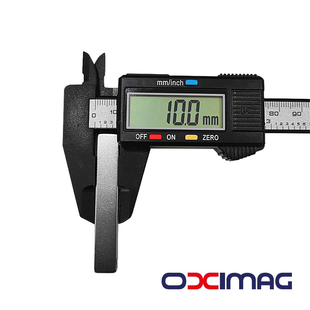 Ímã de Neodímio Bloco - 60 X 10 X 5 mm - N35