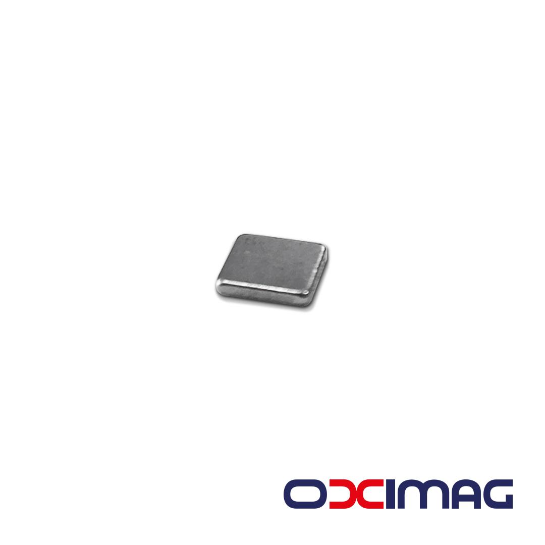 Ímã de Neodímio Bloco - 6 X 6 X 1 mm - N35