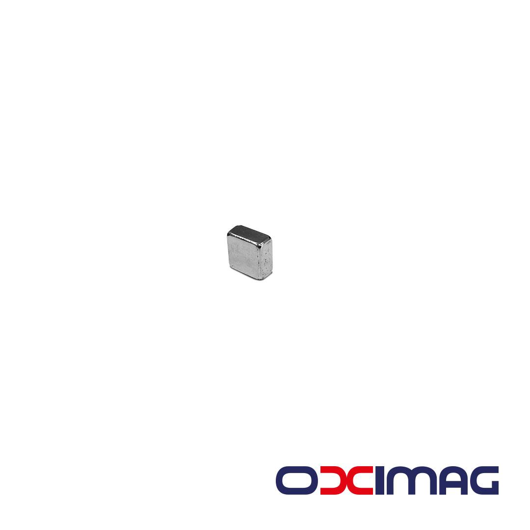 Ímã de Neodímio Bloco - 8 X 8 X 4 mm - N35