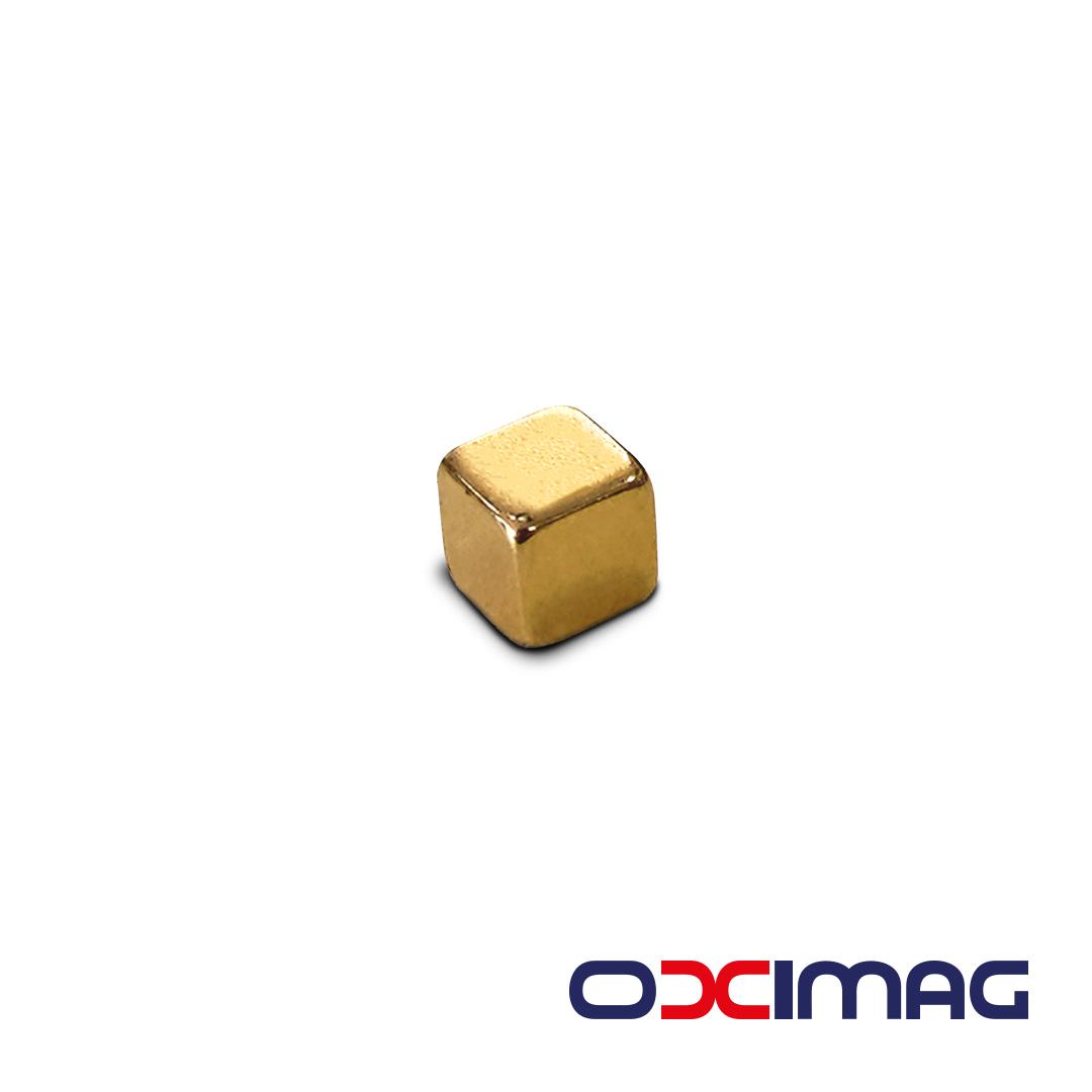 Neodímio Bloco 5 X 5 X 5  mm GOLD