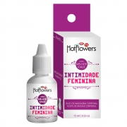 Intimidade Feminina Gel Para Massagem Corporal 15ml - Hot Flowers