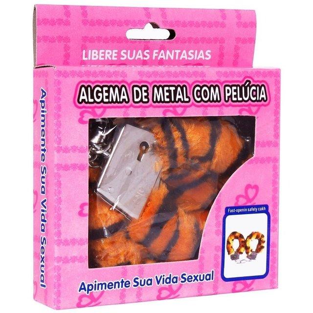 ALGEMA DE METAL COM PELÚCIA  HAND CUFFS