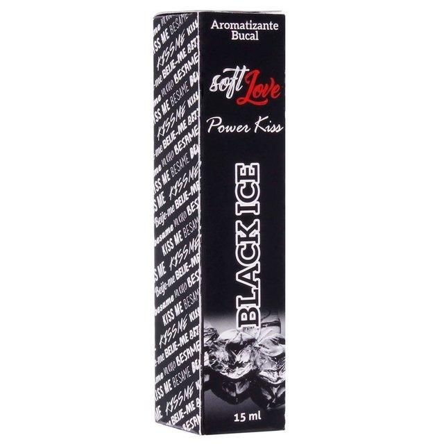 Power Kiss Black Ice Spray Aromatizante 15ml - Soft Love