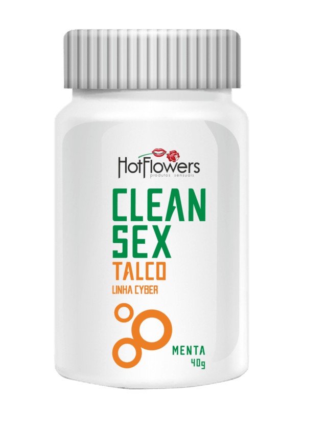 CLEAN SEX TALCO CYBER MENTA  40G  HOT FLOWERS