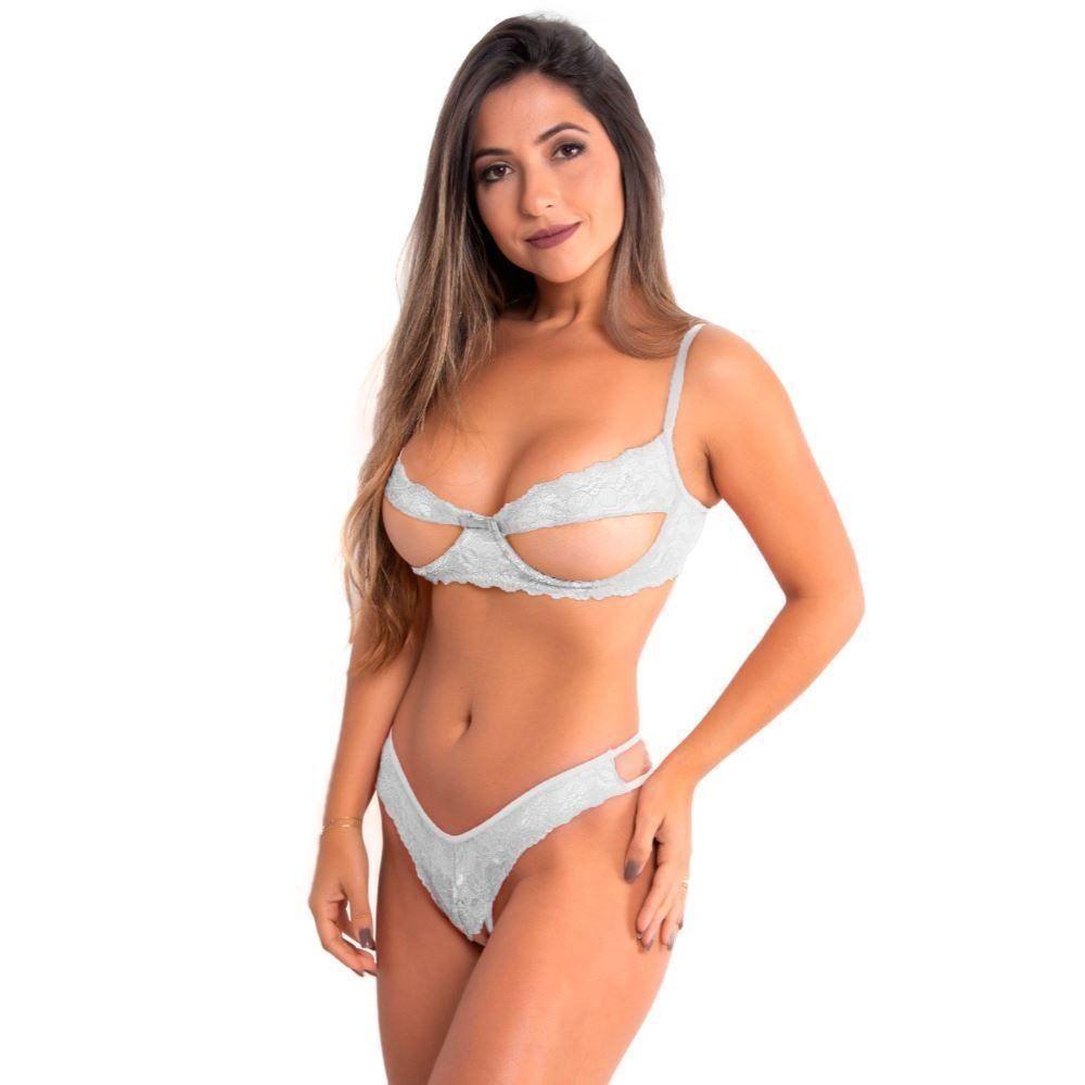 Conjunto Sexy Tully Com Renda De Aro - Patitex