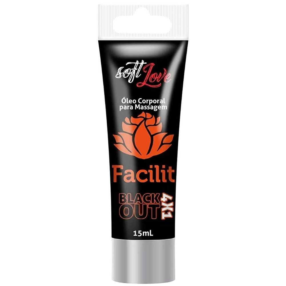 Facilit Blackout Óleo Para Massagem 4x1 15ml - Soft Love