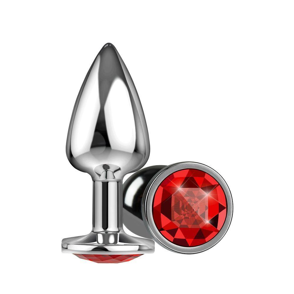 Plug Silver Pedra Cristal Tamanho U - La Pimienta